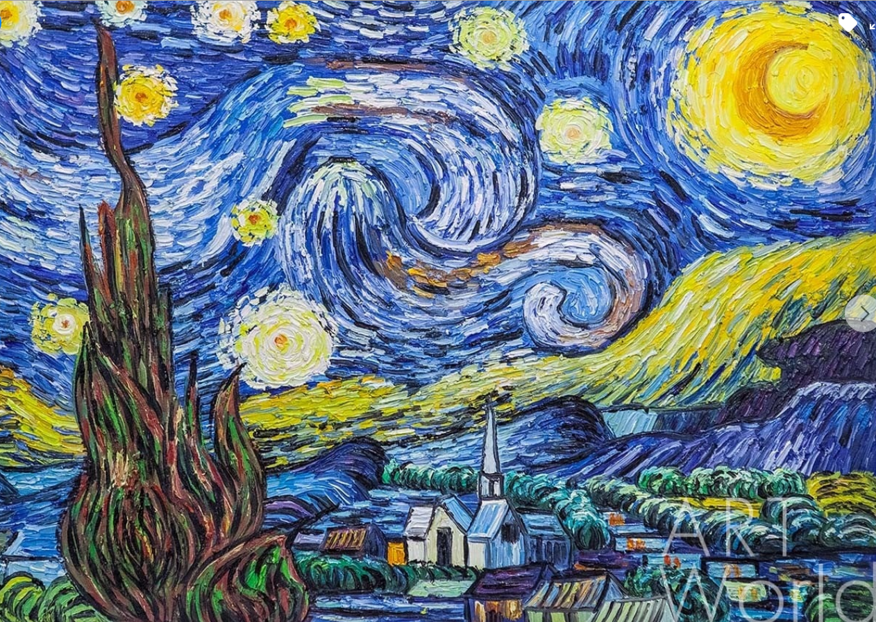 "The poster of the event — Art-Psy-Club: Therapy for the Soul / ""Starry Night"" by Van Gogh in Art-Psy-Club"