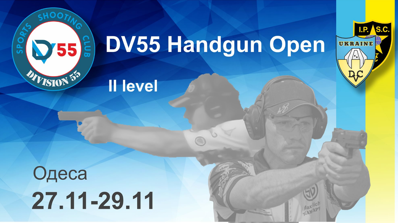 The poster of the event — DV55 Handgun open 2 level in Location
