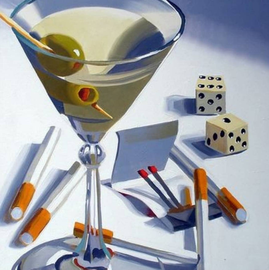 "The poster of the event — Oil painting ""Cocktail 007"" in Artym's Lab"